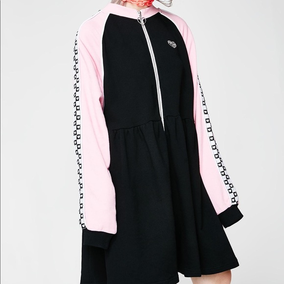 61be2ce4f86 Lazy Oaf Dresses   Skirts - Lazy Oaf Sports Club Zip Sweater Dress